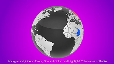 Download Real World Map Country Highlighter for After Effects