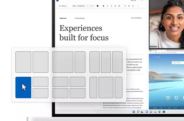تقسيم شاشة  ويندوز 11 Windows