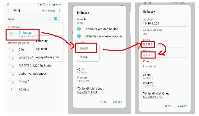 android dns 2020, android ip adresi değiştirme, bilgisayar dns, dns adresleri, en hızlı dns, İphone dns, mobil ağ dns değiştirme, telefon dns iphone, xiaomi dns ayarları,