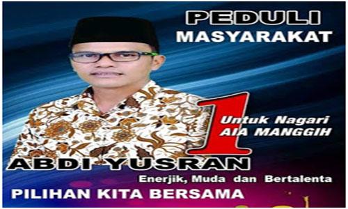 Abdi Yusran Unggul di Pilwana Aia Manggih