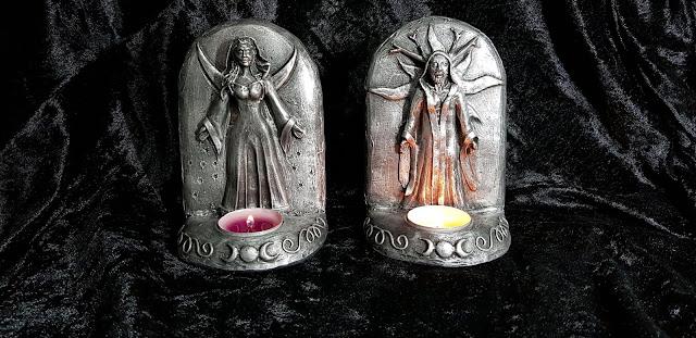 Imagens representando a Deusa e o Deus, na Wicca.