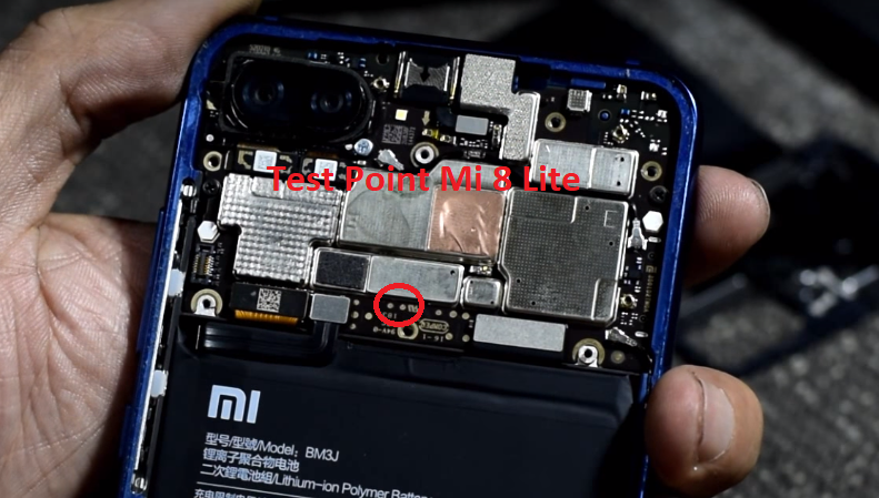 Mi 8 Lite Test Point
