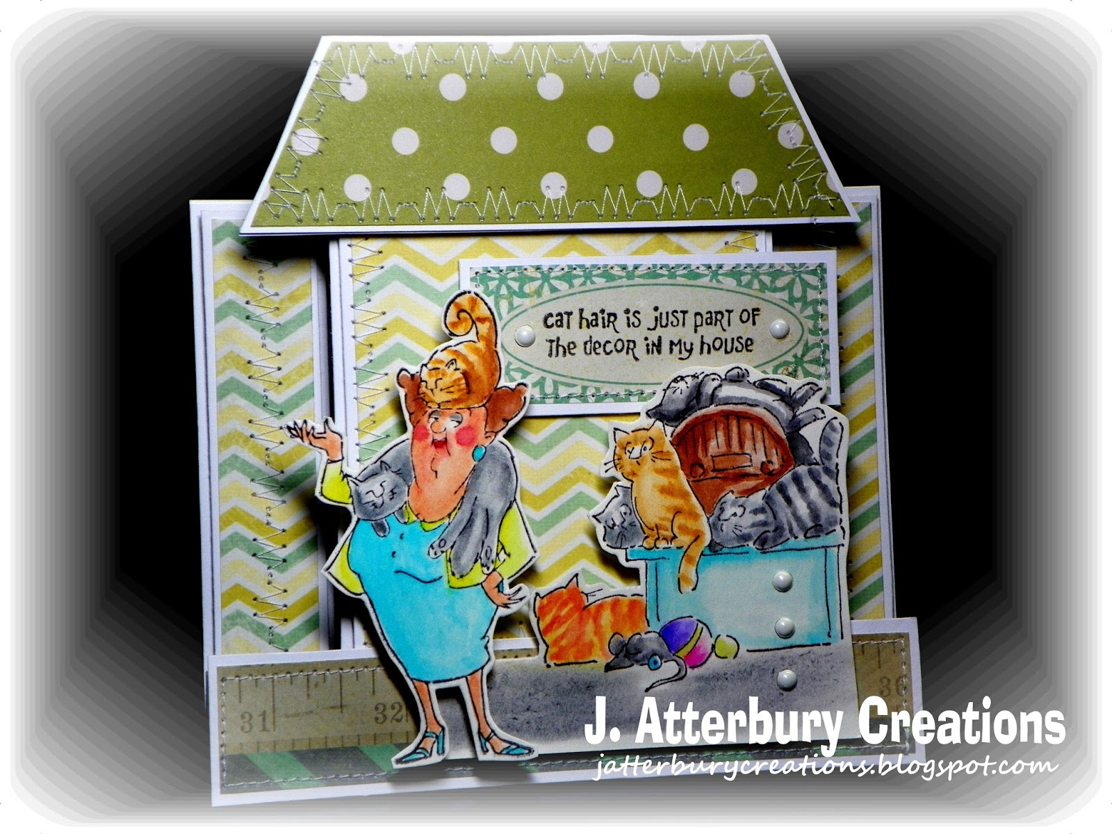J atterbury creations fun humor series decor in my house center step card join the fun with for Decor ingang