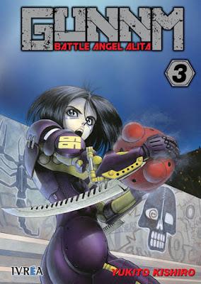 "Reseña de ""GUNNM: Alita Angel de Combate"" vols. 3 y 4 de Yukito Kishiro - Ivréa"
