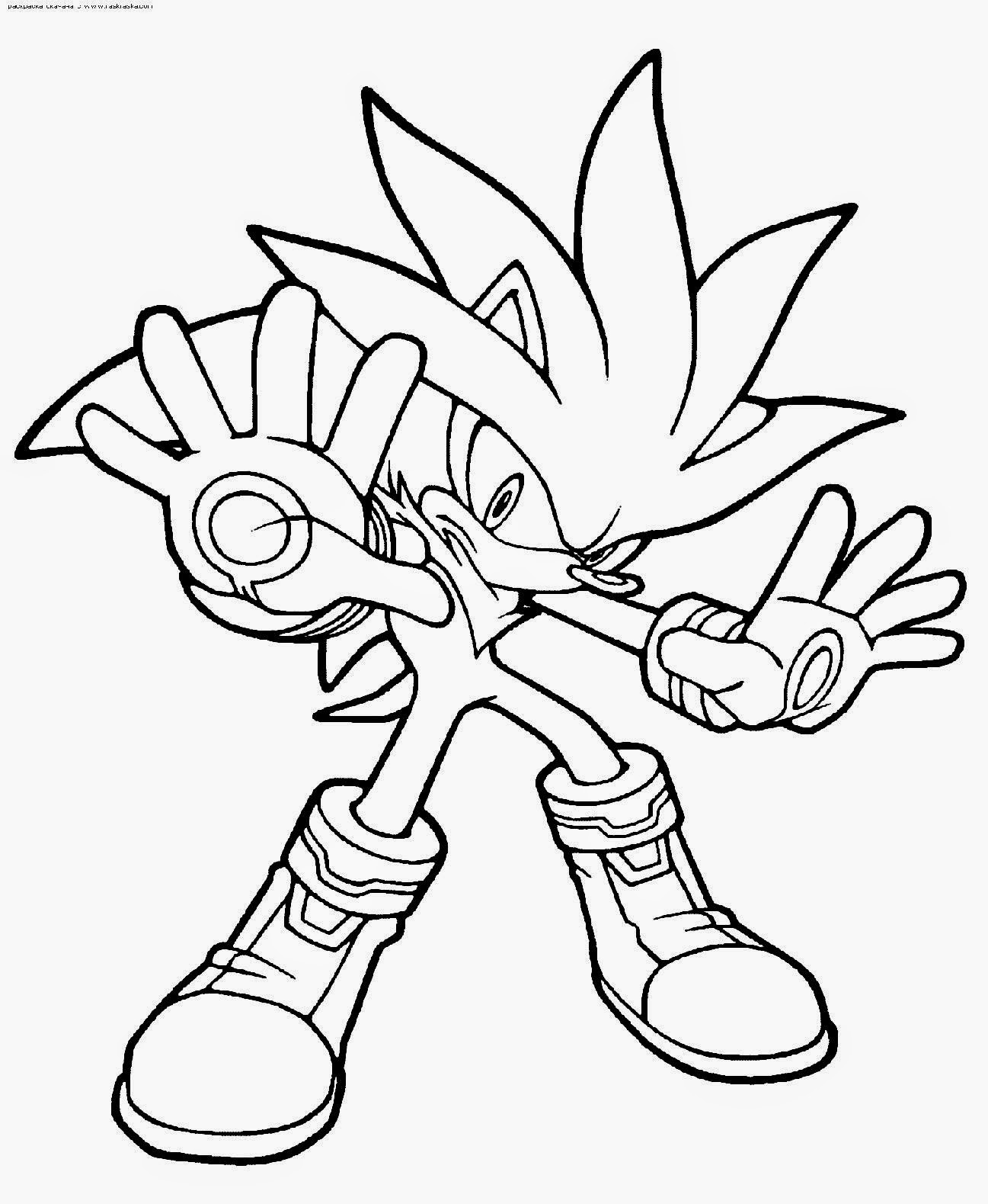 Sonic coloring sheets free coloring sheet for Free sonic the hedgehog coloring pages