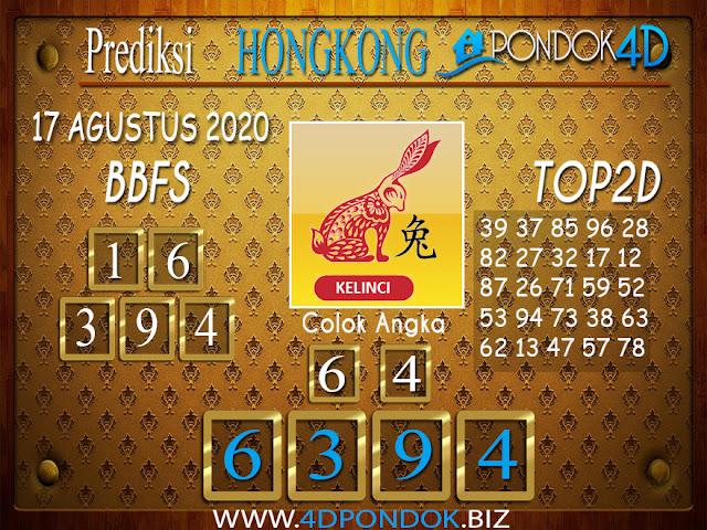 Prediksi Togel HONGKONG PONDOK4D 17 AGUSTUS 2020