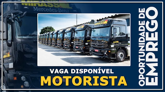 Grupo Mirassol abre vagas para Motorista Carreteiro, Bitrem e Rodotrem