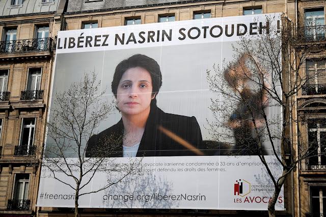 Clamor mundial por latigazos y prisión a abogada en Irán