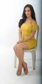Elli Avram in super short yellow dress spicy pics HQ