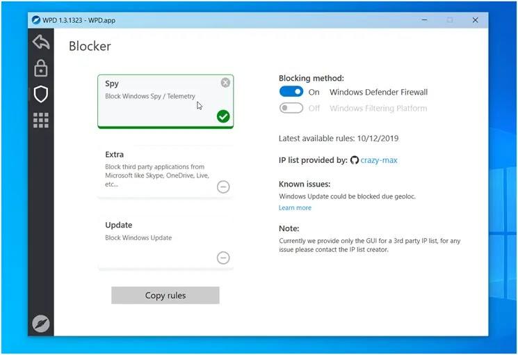 WPD :  Προστατεύστε τα προσωπικά σας δεδομένα στα Windows
