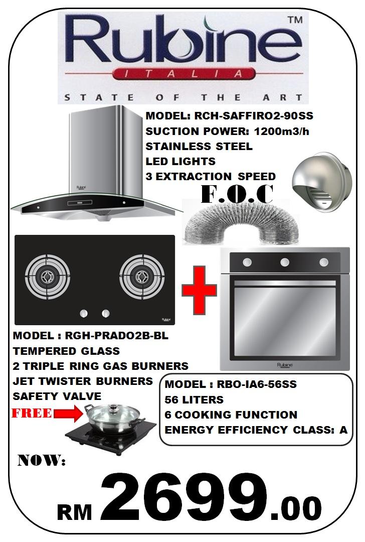 Combination Hood Hob Oven Ala Italian
