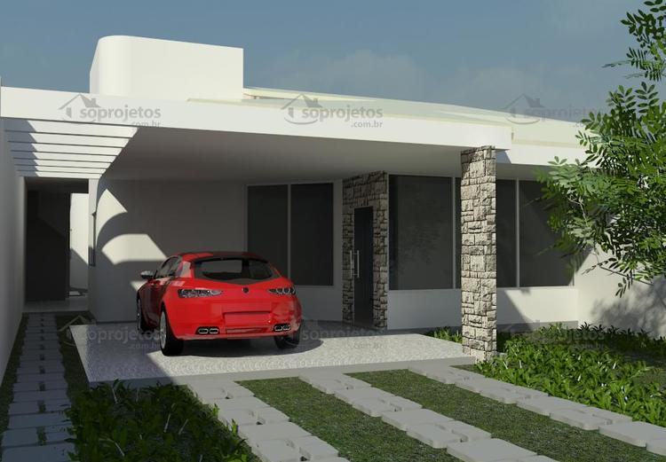 fachada de casa térrea 150 m2
