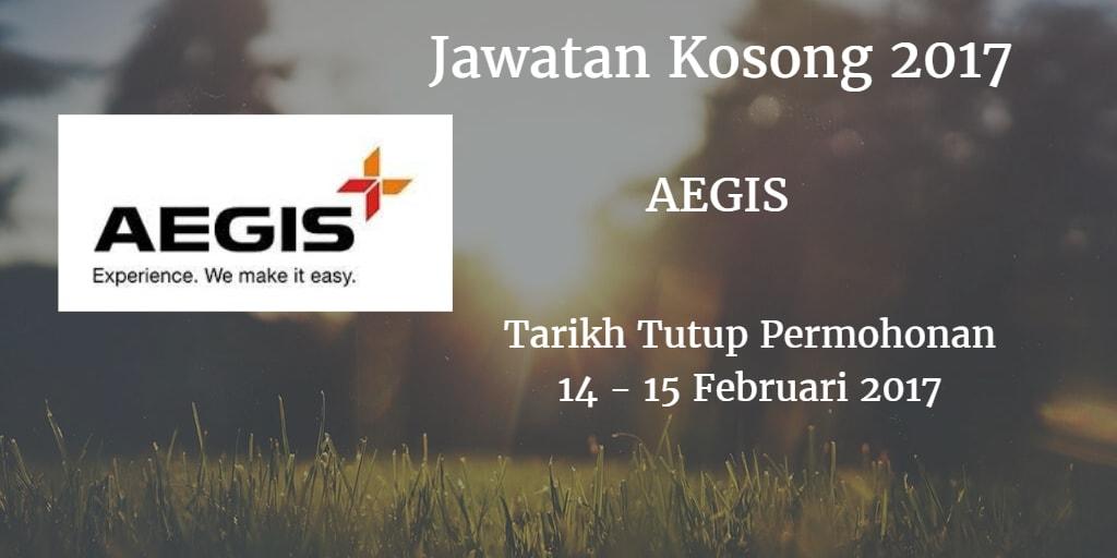 Jawatan Kosong AEGIS 14 - 15 Februari 2017