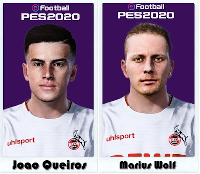 PES 2021 Faces Joao Queiros & Marius Wolf by Shaft