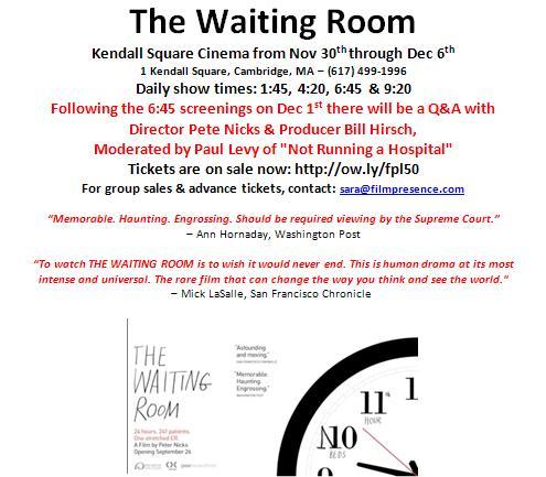 Not Running a Hospital: November 2012