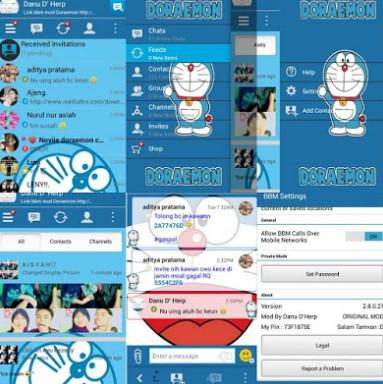 BBM Mod Doraemon Apk V3.0.1.25 Terbaru