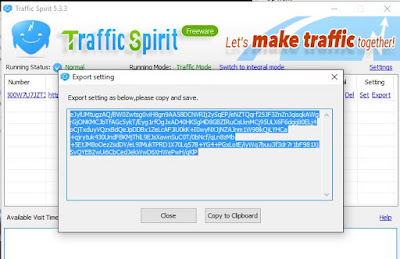 Bot Traffic Spirit - Export Setingan