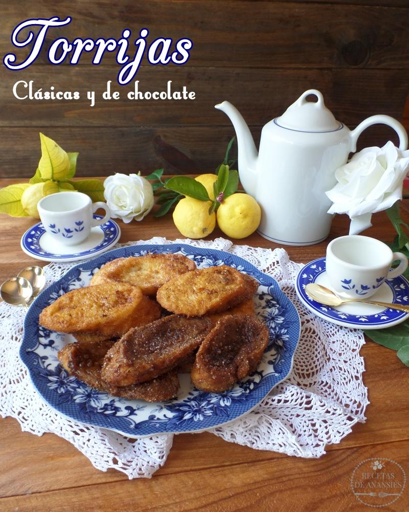 Torrijas tradicionales y con chocolate