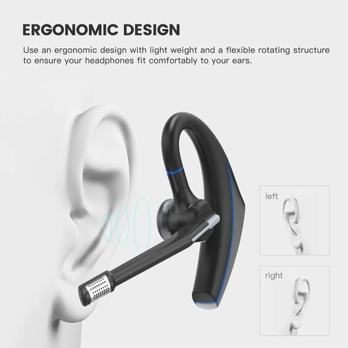 Strugglesz Bluetooth V5.0 Earpiece Hands-Free Earphones