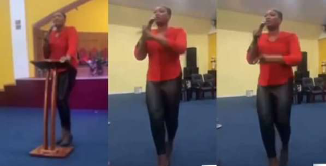Watch the Moment a Pastor wife rained curses on members for not contributing money for her birthday (Video)