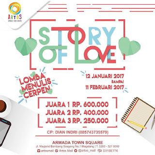 Lomba Menulis Cerpen Tema Cinta Hadiah Uang Tunai - Artos Mall