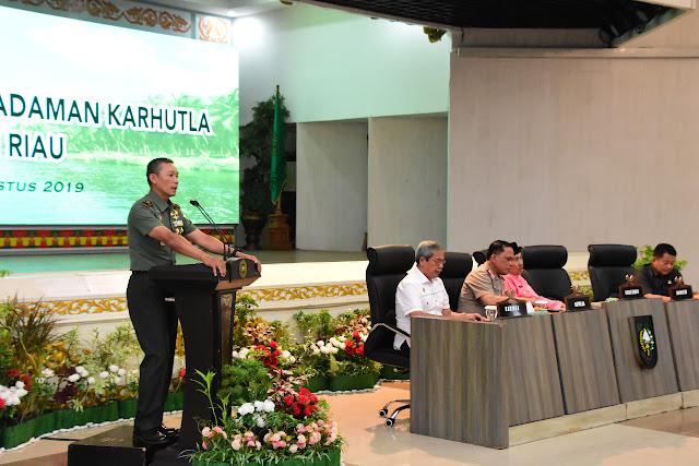 Danrem 031 : Karhutla Riau Tanggung Jawab Kita Bersama