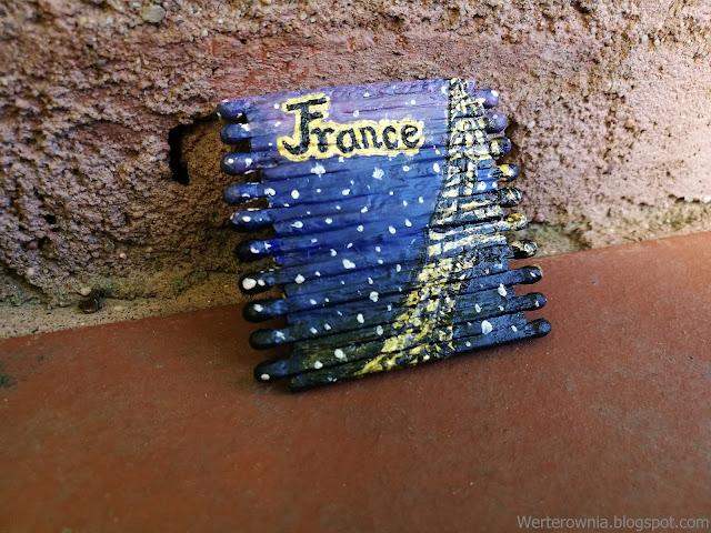 Magnes ręcznie malowany Francja