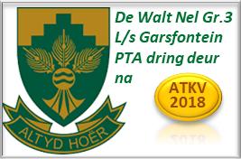 De Walt Nel Gr.3 L/s Garsfontein PTA dring deur na ATKV 2018