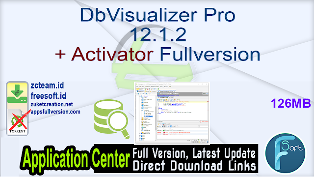 DbVisualizer Pro 12.1.2 + Activator Fullversion