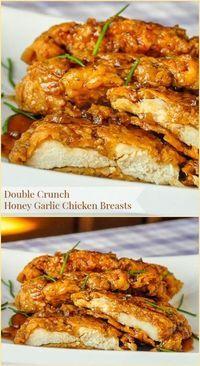DOUBLE CRUNCH HONEY GARLIC CHICKEN BREAST