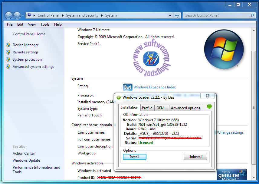 windows loader 2.1 by daz free download