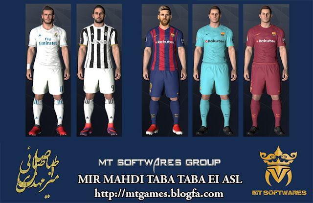 PES 2017 New Kits Pack 2017-18 v.1 by MT Games