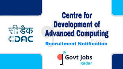 CDAC Recruitment Notification 2019,  CDAC Recruitment 2019 Latest, govt jobs in India, central govt jobs, Latest  CDAC Recruitment update