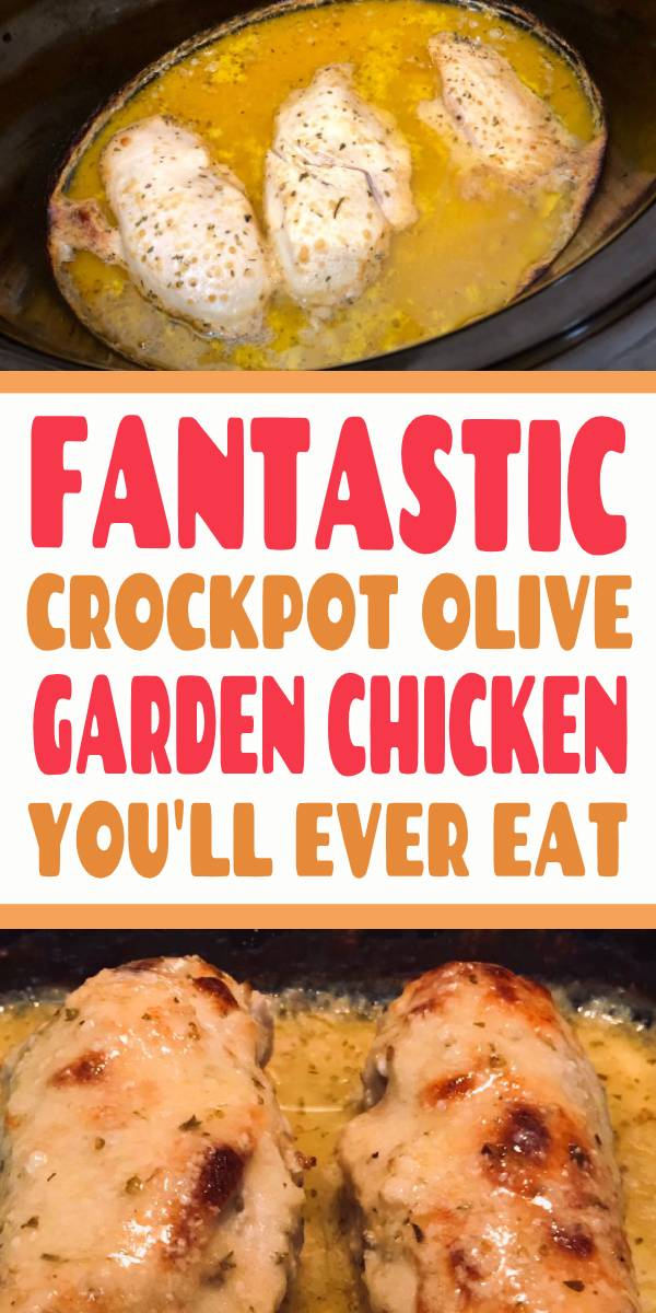 Crockpot Olive Garden Chicken Recipe! This copycat dinner recipe is such a delicious + easy addition to your menu! #crockpot #slowcooker #chicken #dinner