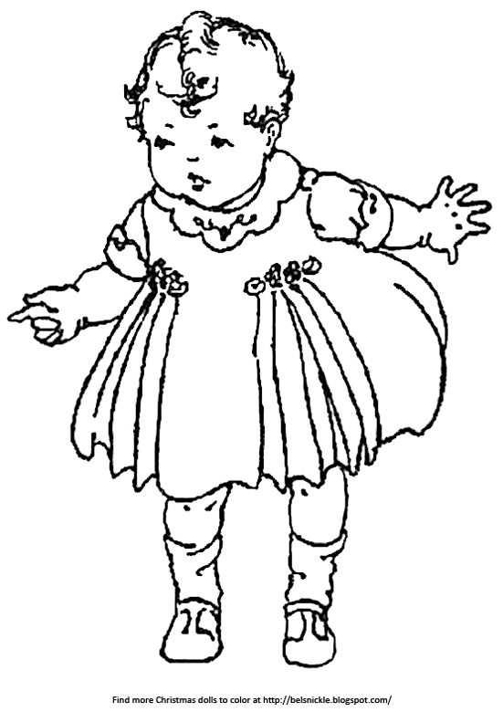 Baby Doll Christmas Coloring Pages Novocom Top