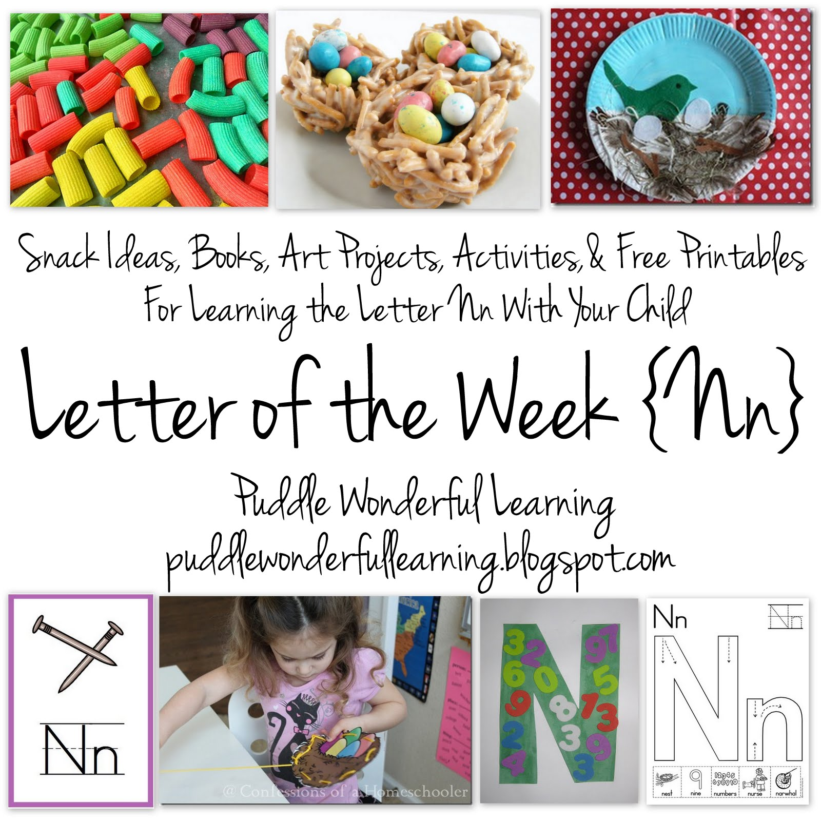 Puddle Wonderful Learning Preschool Activities Letter Of The Week Nn