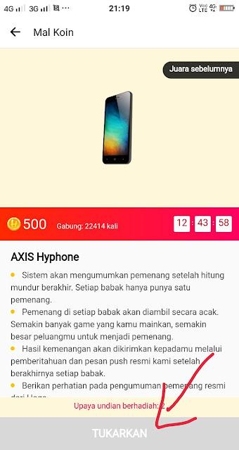 hadiah axis hyphone dari hago