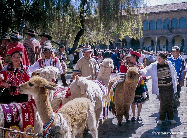 Movimento de turistas em Cusco durante a Festa do Sol