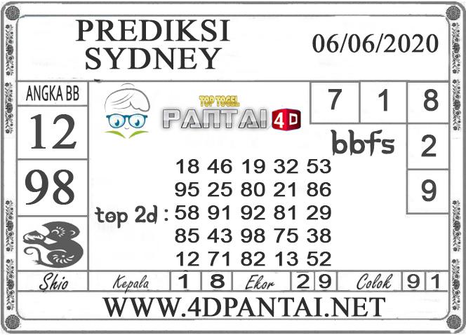 PREDIKSI TOGEL SYDNEY PANTAI4D 06 JUNI 2020