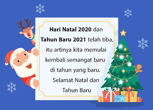 Ucapan Selamat Natal Dan Tahun Baru 2021 Review Teknologi Sekarang
