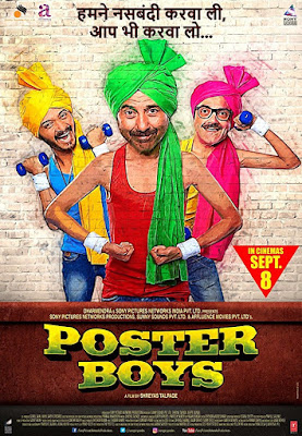 Poster Boys 2017 Hindi 720p DVDRip 600Mb x265 HEVC