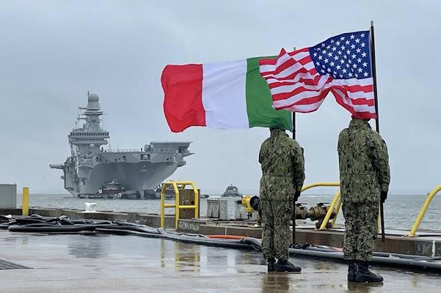 Italian Cavour aircraft carrier Norfolk