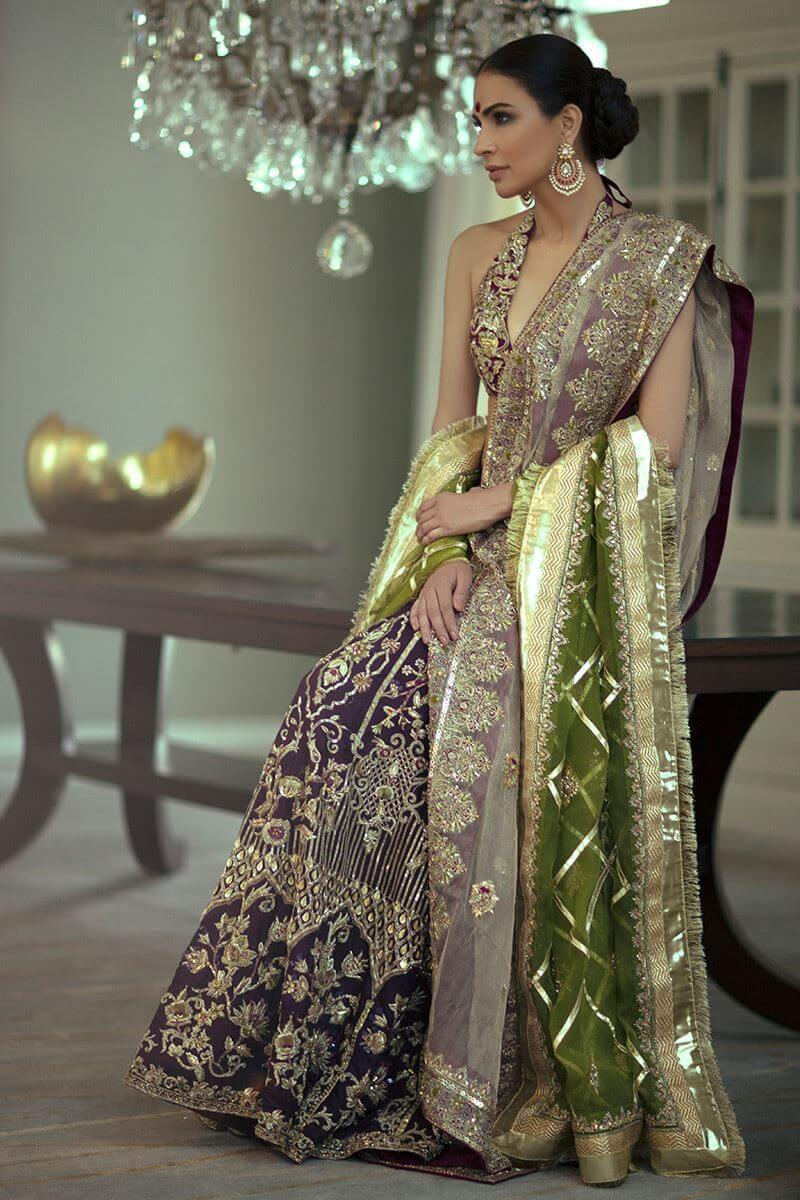 Bridal Ghagra Choli for Pakistani Brides in UK