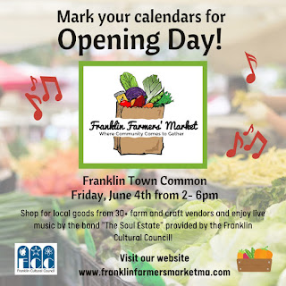 Farmers Market opening day -> June 4 from 2 to 6 PM