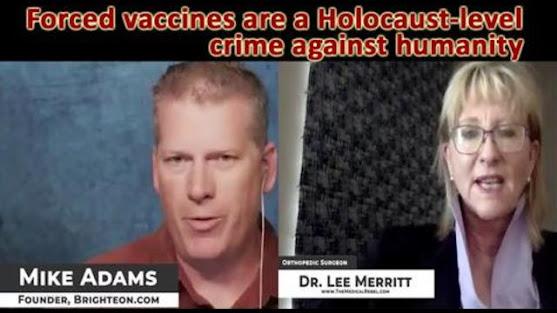 Lee Merritt vaccines crime against humanity coronavirus bedicine healthcare fraud crime pharmaceuticals