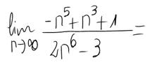 16. Límite de una sucesión (cociente de polinomios) 10