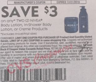nivea $3 off insert coupon week of 12-8