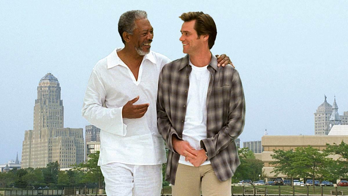 Tuhan dan Bruce di film BRUCE ALMIGHTY
