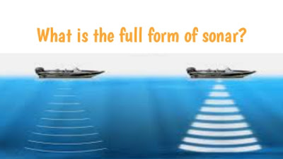 What is the full form of sonar and radar in Hindi Kya Hota Hai
