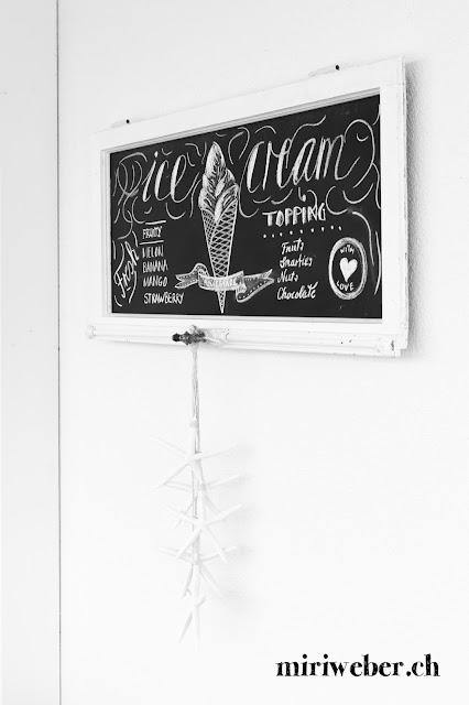 Chalkboardlettering, Lettering Schweiz, Kreativblog, DIY Blog Schweiz, DIY Chalkboard, Eiskarte, Ice Cream Chalkboard